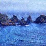 Rocks On Isle Of Guernsey Art Print