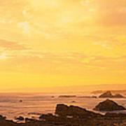 Rocks On The Coast, Mendocino Art Print