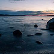 Rocks At A Shore Art Print