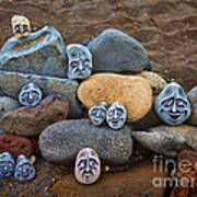 Rocky Faces In The Sand Art Print