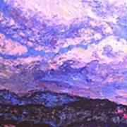 Rocky Knob Clouds Art Print