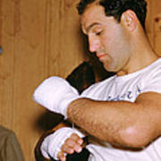 Rocky Marciano Getting Ready Print by Retro Images Archive