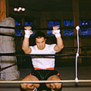 Rocky Marciano Stretching Print by Retro Images Archive