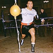 Rocky Marciano Striking Bag Art Print