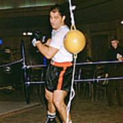 Rocky Marciano Training Hard Art Print