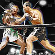 Rocky Marciano V Jersey Joe Walcott Art Print