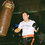 Rocky Marciano Working Heavy Bag Print by Retro Images Archive