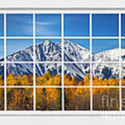 Rocky Mountain Autumn High White Picture Window Art Print