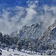 Rocky Mountain Dusting Of Snow Boulder Colorado Art Print