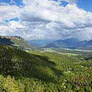 Rocky Mountain National Park Panorama Art Print