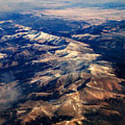 Rocky Mountain Peaks From Above Art Print