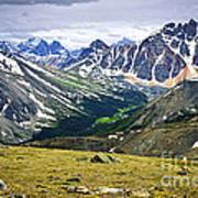 Rocky Mountains In Jasper National Park Art Print by Elena Elisseeva
