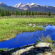 Rocky Mountains River Art Print by Olivier Le Queinec
