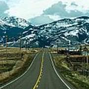 Rocky Mountains Road Art Print