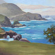Rocky Point Big Sur Art Print by Karin  Leonard