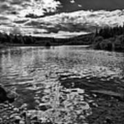 Rocky Shore Of The Moose River Art Print