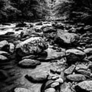Rocky Smoky Mountain River Art Print