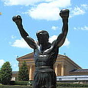 Rocky Statue Art Print by Lou Ford