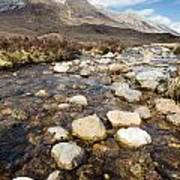 Rocky Stream From Beinn Eighe Art Print