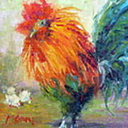 Rocky The Rooster Art Print