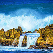 Rocky Waves North Shore Art Print