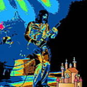 R P  And The Ufo At The Castle Made Of Sand Art Print