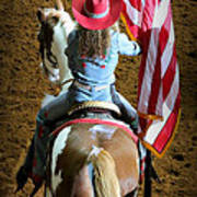 Rodeo America - Land Of The Free Art Print
