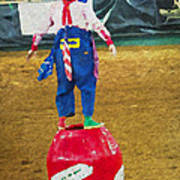 Rodeo Barrel Clown Art Print