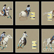 Rodeo Collage 2 Art Print
