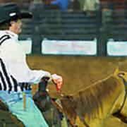 Rodeo Cowboy Referee Art Print