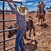 Rodeo Gate Keeper Art Print