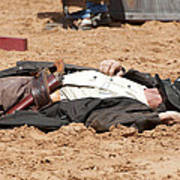Rodeo Gunslinger Victim Color Art Print