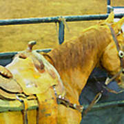 Rodeo Horse Art Print