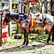 Rodeo Horse Three Art Print