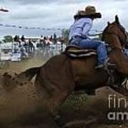 Rodeo Ladies Barrel Race 1 Art Print
