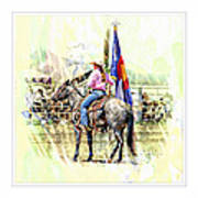 Rodeo Time In Colorado Art Print