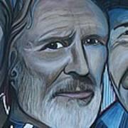 Roger Alan Wade Kris Kristoferson Billy Joe Shaver Art Print