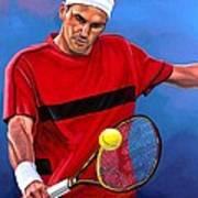 Roger Federer The Swiss Maestro Art Print