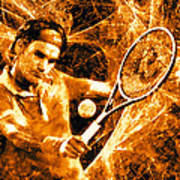 Roger Federer Clay Art Print