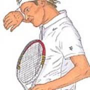 Roger Federer Art Print by Steven White