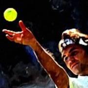 Roger Federer Tennis 1 Art Print