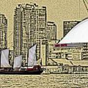 Roger's Centre And Tall Ship Art Print