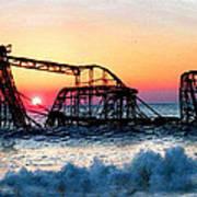 Roller Coaster After Sandy Art Print by Tony Rubino