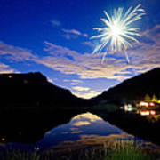 Rollinsville Yacht Club Fireworks Private Show 52 Art Print