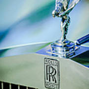 Rolls-royce Hood Ornament -782c Art Print