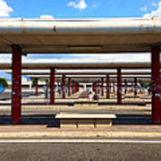 Roman Bus Stop Art Print