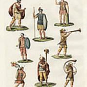 Roman Foot Soldiers Art Print by Splendid Art Prints