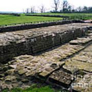 Roman Fort Ruins, England Art Print