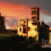 Roman Forum At Sunset Art Print
