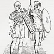 Roman Infantry Soldiers, After Figures On Trajans Column.  From The Imperial Bible Dictionary Art Print